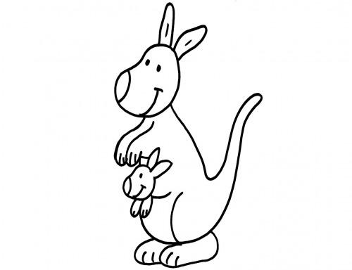 kostenlose malvorlage tiere känguru ausmalen zum ausmalen