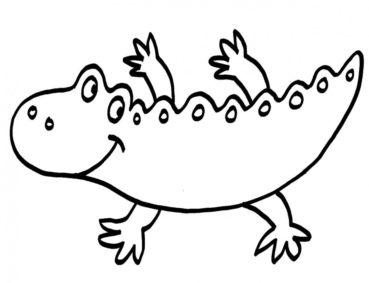 Kostenlose Malvorlage Tiere: Krokodil ausmalen zum Ausmalen