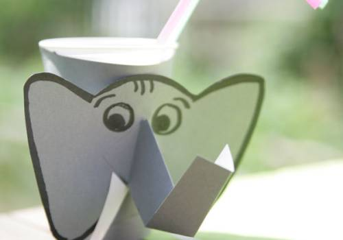 basteln mit kindern kostenlose bastelvorlage basteltipps f r den kindergeburtstag elefant. Black Bedroom Furniture Sets. Home Design Ideas