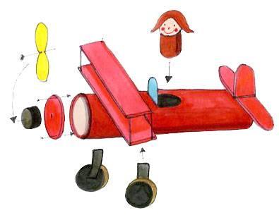 Basteln mit kindern kostenlose bastelvorlage action - Flugzeug basteln mit kindern ...