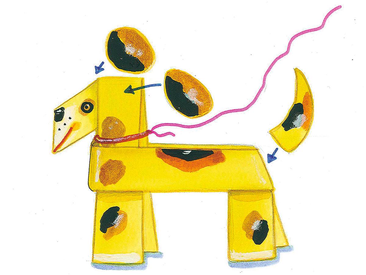 Basteln Mit Kindern Kostenlose Bastelvorlage Tiere Hund Aus Papier
