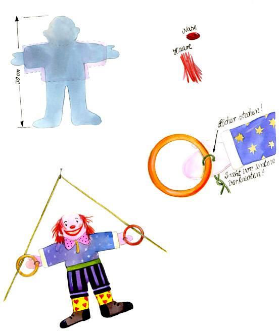 Basteln Mit Kindern Kostenlose Bastelvorlage Zirkus