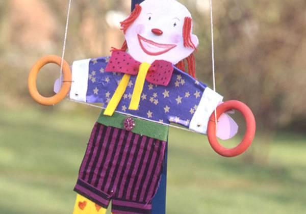 Basteln mit kindern kostenlose bastelvorlage zirkus kletter clown - Clown basteln kindergarten ...