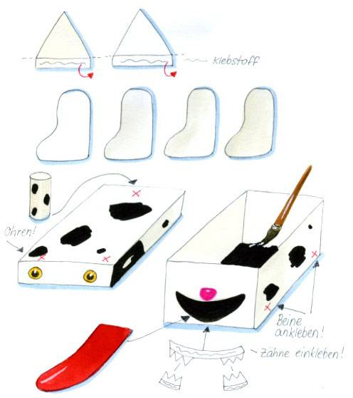 basteln mit kindern kostenlose bastelvorlage selbst gebastelte spiele murmel hund spiel. Black Bedroom Furniture Sets. Home Design Ideas