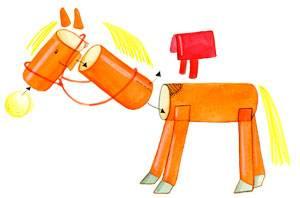 basteln mit kindern kostenlose bastelvorlage basteln f r m dchen pferd und reiterin aus pappe. Black Bedroom Furniture Sets. Home Design Ideas