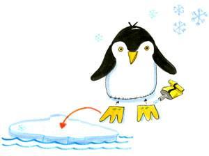 Basteln Mit Kindern Kostenlose Bastelvorlage Tiere Pinguin Aus Filz