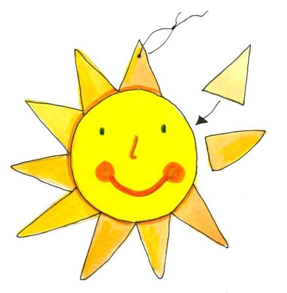 Bastelvorlage Fur Eine Sonne Zum Ausdrucken 8