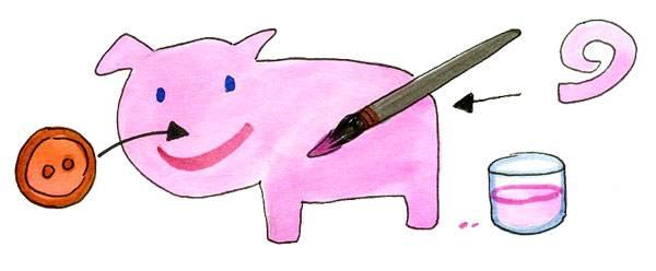 bastelvorlage tiere schweinchen zum basteln. Black Bedroom Furniture Sets. Home Design Ideas
