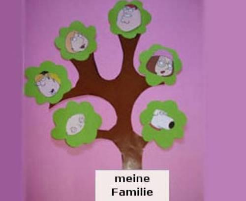 Basteln mit kindern kostenlose bastelvorlage for Stammbaum zum ausdrucken