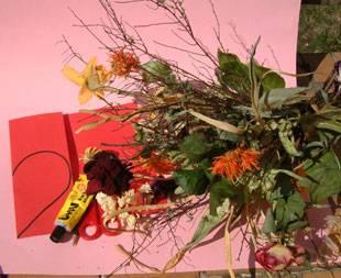 Materialien für das Blumenherz
