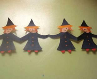 Basteln mit kindern kostenlose bastelvorlage halloween - Halloween girlande ...