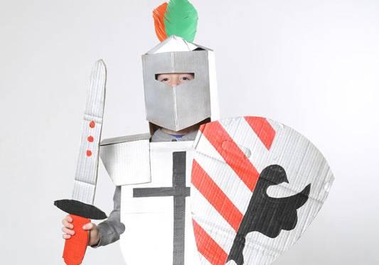 Basteln Mit Kindern Kostenlose Bastelvorlage Kostume Ritter