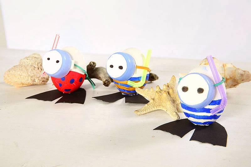 basteln mit kindern kostenlose bastelvorlage ostern eier auf tauchgang. Black Bedroom Furniture Sets. Home Design Ideas