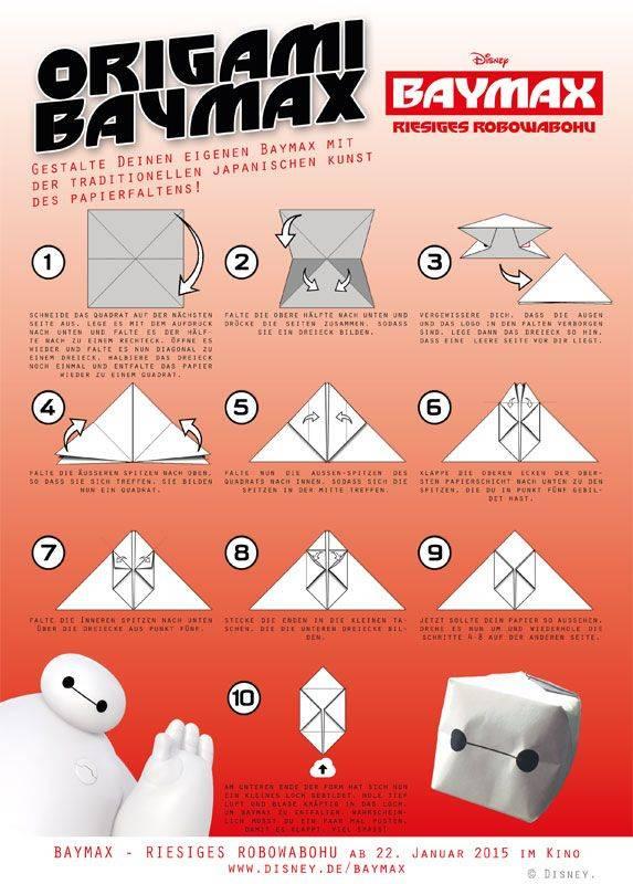 basteln mit kindern kostenlose bastelvorlage sonstige bastelanleitungen origami baymax. Black Bedroom Furniture Sets. Home Design Ideas