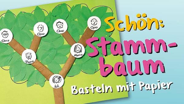 Basteln mit kindern kostenlose bastelvorlage sonstige bastelanleitungen familienstammbaum - Stammbaum basteln mit kindern ...