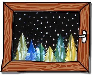 Weihnachtsbasteln Fensterbilder.Basteln Mit Kindern Kostenlose Bastelvorlage Advent Winter Und