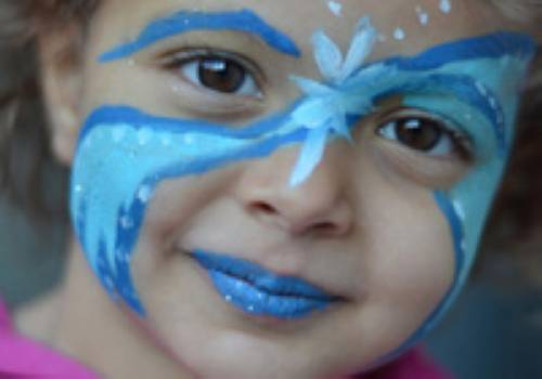 basteln mit kindern kostenlose bastelvorlage kinderschminken blaue fee. Black Bedroom Furniture Sets. Home Design Ideas