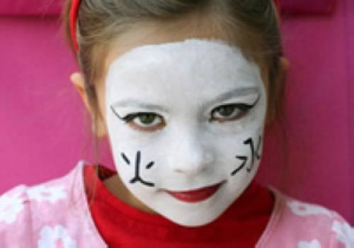 basteln mit kindern kostenlose bastelvorlage kinderschminken geisha. Black Bedroom Furniture Sets. Home Design Ideas