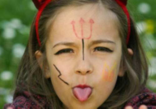 Basteln Mit Kindern Kostenlose Bastelvorlage Kinderschminken Teufelin