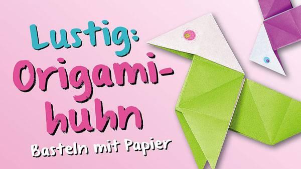 basteln mit kindern kostenlose bastelvorlage origami und papier origami huhn. Black Bedroom Furniture Sets. Home Design Ideas