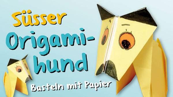 basteln mit kindern kostenlose bastelvorlage origami und papier origami hund. Black Bedroom Furniture Sets. Home Design Ideas