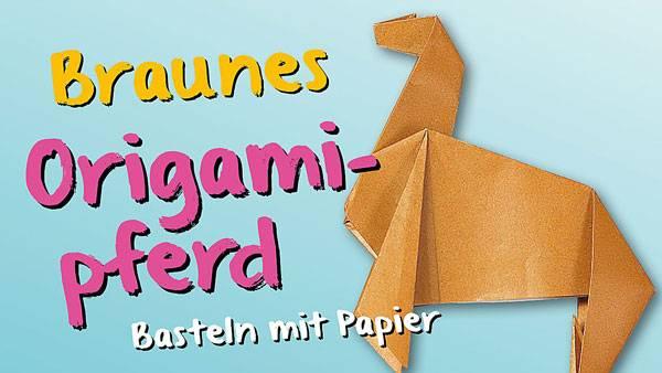 Bastelvorlage Origami Und Papier Origami Pferd Zum Basteln