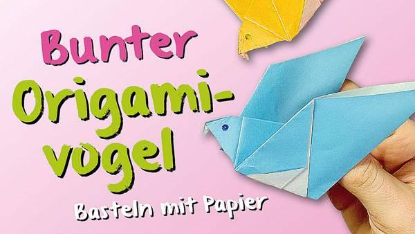 basteln mit kindern kostenlose bastelvorlage origami und papier origami vogel. Black Bedroom Furniture Sets. Home Design Ideas