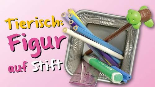 Basteln mit Kindern - Kostenlose Bastelvorlage Rund um die Schule: Schildkru00f6ten-Stift