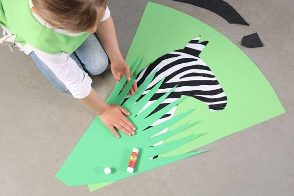 basteln mit kindern kostenlose bastelvorlage schult ten zebra schult te basteln. Black Bedroom Furniture Sets. Home Design Ideas