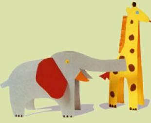 Basteln mit Kindern Tiere  kostenlose Bastelvorlagen zum Ausdrucken