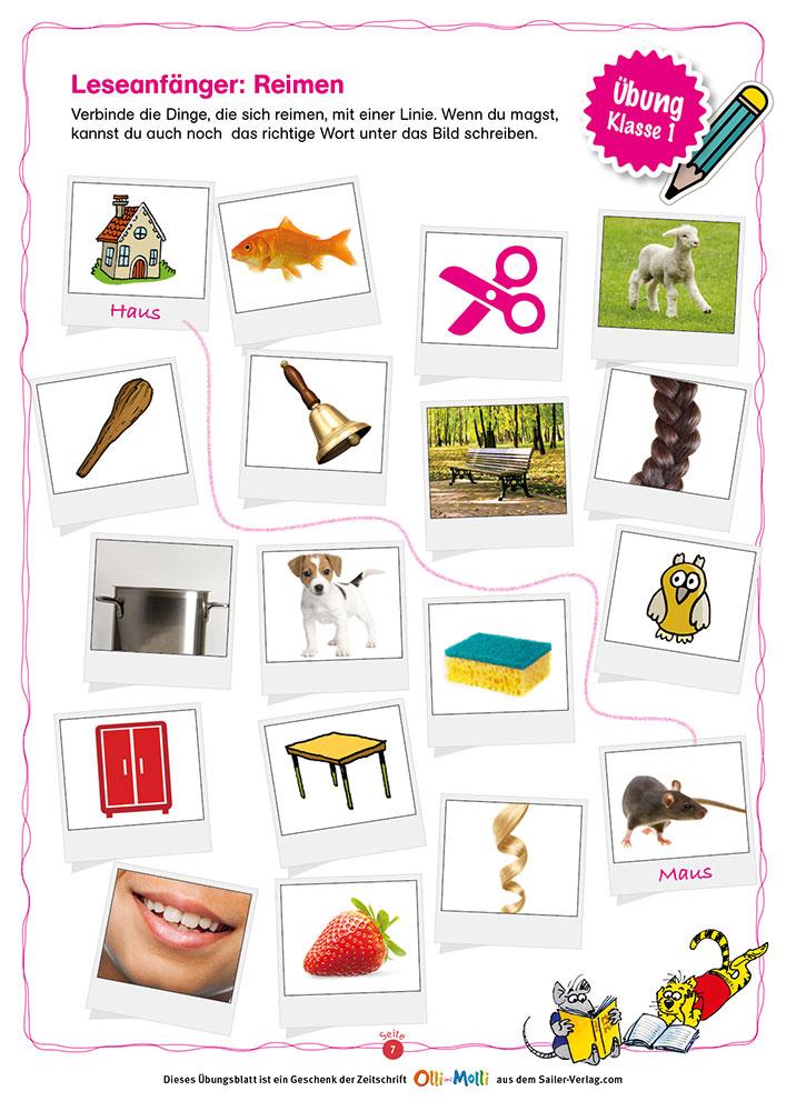 Lesen Klasse 1 – Die besten Übungen für die Grundschule