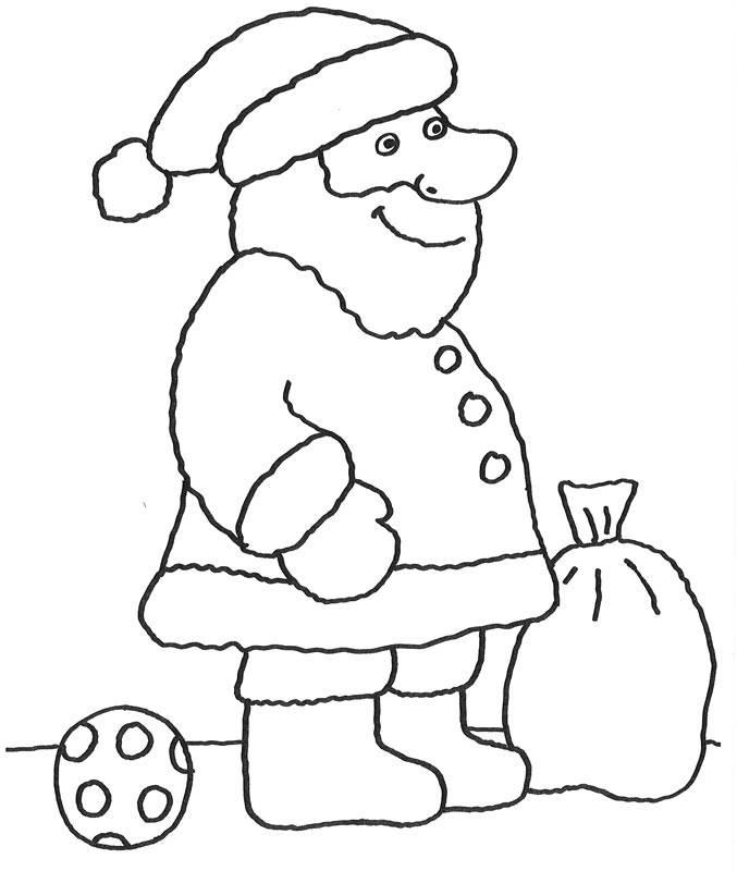 Kostenlose Malvorlage Advent: Nikolaus zum Ausmalen