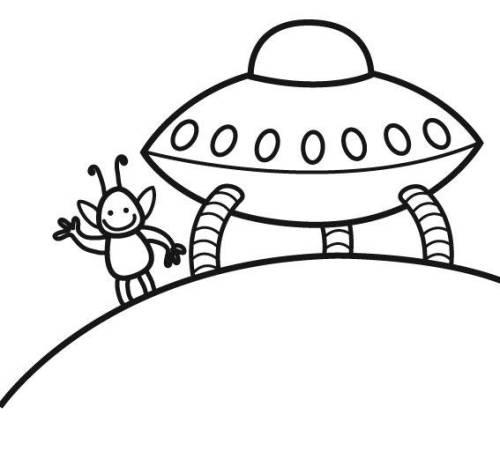 Kostenlose Malvorlage Außerirdische Und Das Weltall Ufo Zum Ausmalen