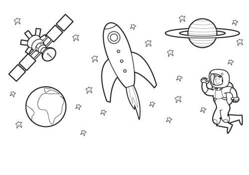Kostenlose Malvorlage Außerirdische Und Das Weltall Astronauten Im