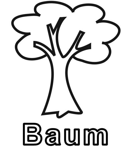 Ausmalbild Bäume Baum Zum Ausmalen Kostenlos Ausdrucken