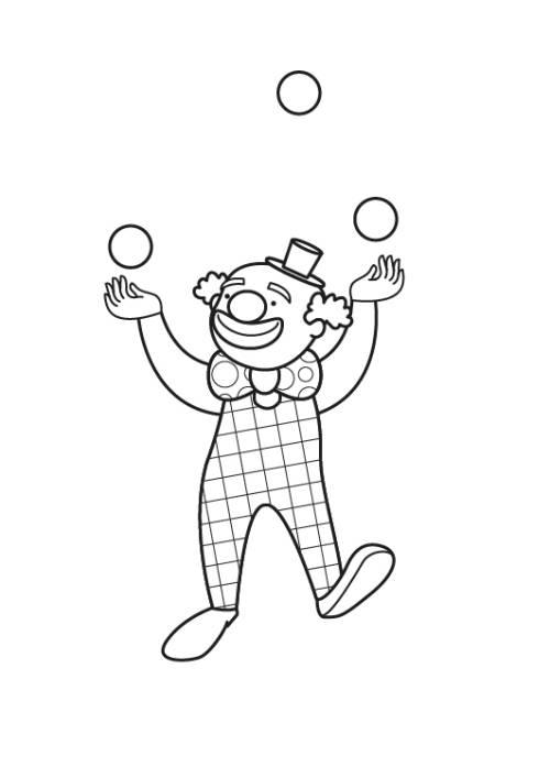 Kostenlose Malvorlage Berufe Clown Zum Ausmalen Zum Ausmalen