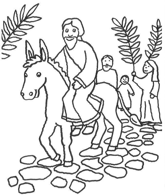 Groß Malvorlagen Von Jesus Auf Einem Esel Bilder ...