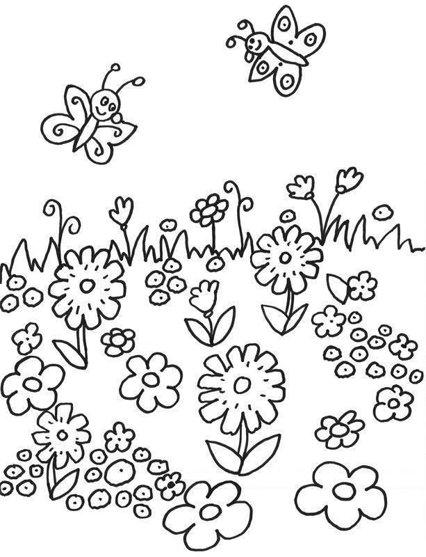 Malvorlagen Frühlingswiese | My blog