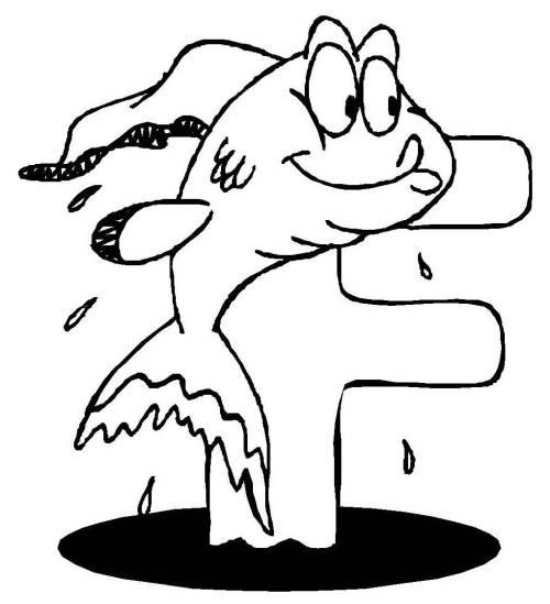 Kostenlose Malvorlage Buchstaben Lernen Tierschrift F Zum Ausmalen