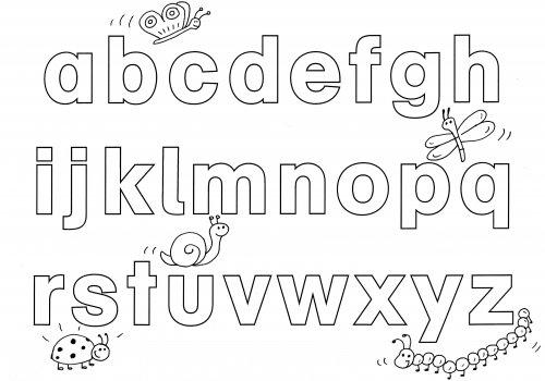 kostenlose malvorlage buchstaben lernen spielerisch buchstaben lernen zum ausmalen. Black Bedroom Furniture Sets. Home Design Ideas