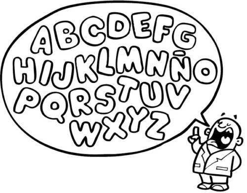 Kostenlose Malvorlage Buchstaben Lernen Viele Buchstabe Zum Ausmalen