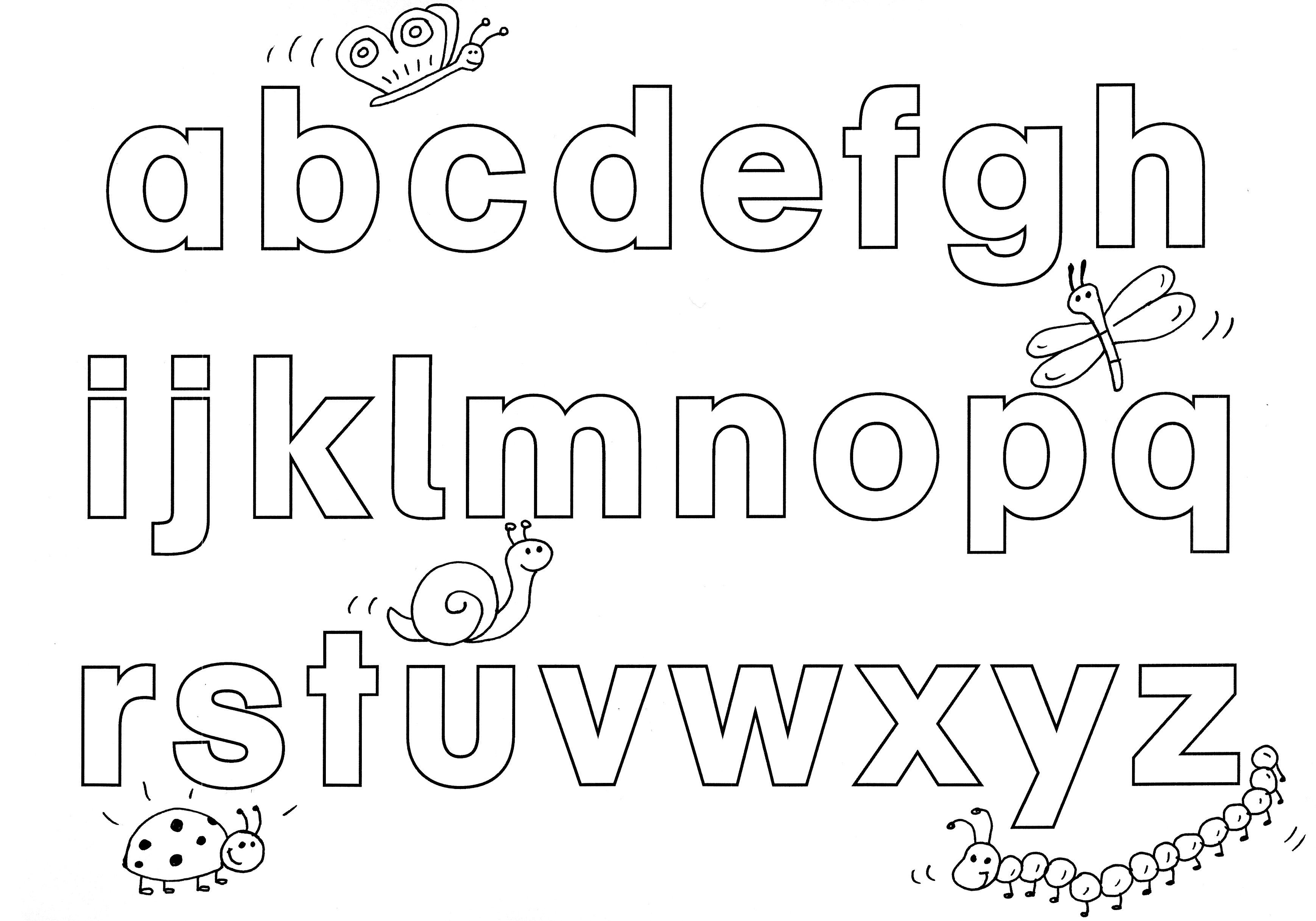 Ausmalbild Buchstaben Lernen Spielerisch Buchstaben Lernen