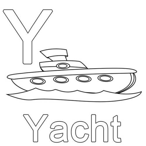 kostenlose malvorlage buchstaben lernen y wie yacht zum ausmalen. Black Bedroom Furniture Sets. Home Design Ideas