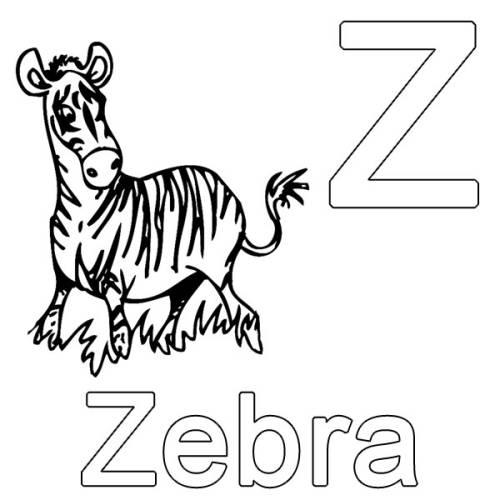 kostenlose malvorlage buchstaben lernen z wie zebra zum ausmalen. Black Bedroom Furniture Sets. Home Design Ideas
