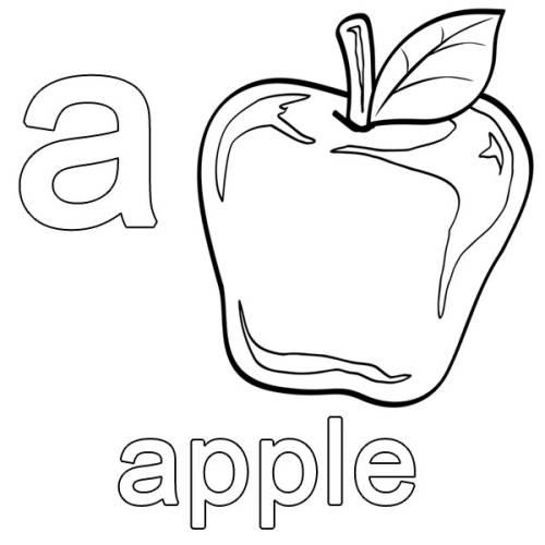 kostenlose malvorlage englisch lernen apple zum ausmalen. Black Bedroom Furniture Sets. Home Design Ideas