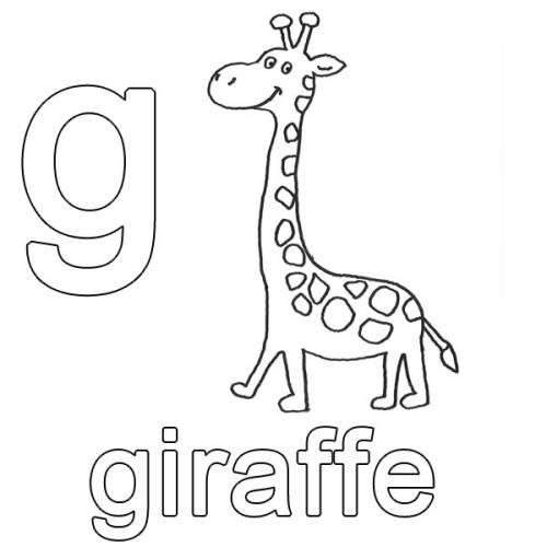 Kostenlose Malvorlage Englisch Lernen Giraffe Zum Ausmalen