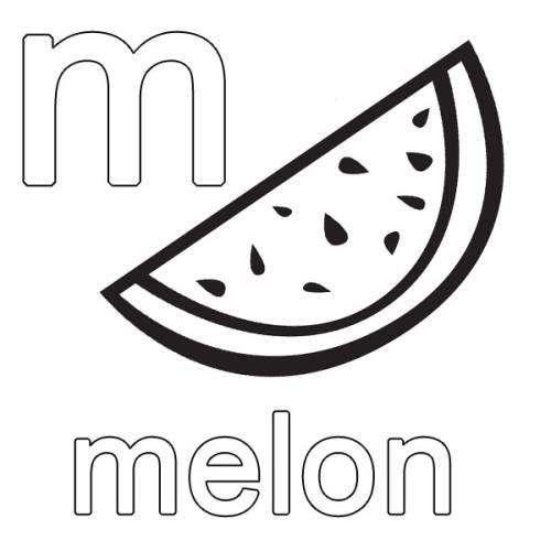 kostenlose malvorlage englisch lernen melon zum ausmalen
