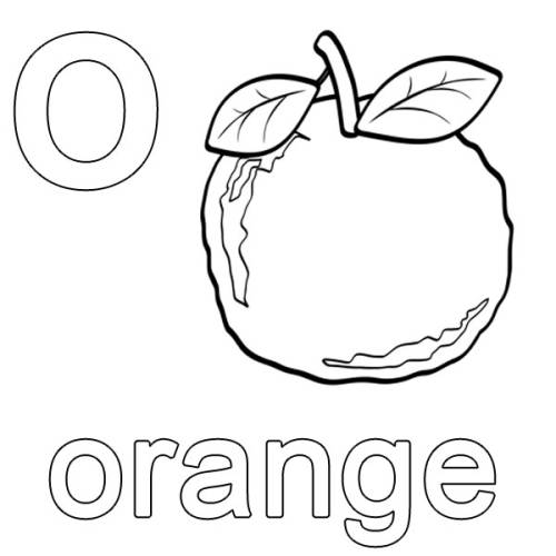 kostenlose malvorlage englisch lernen orange zum ausmalen. Black Bedroom Furniture Sets. Home Design Ideas