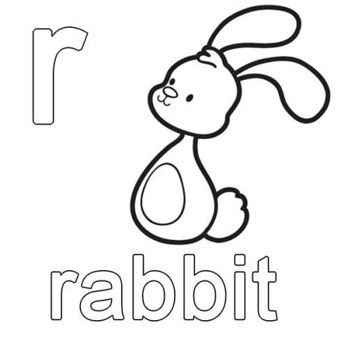 kostenlose malvorlage englisch lernen rabbit zum ausmalen. Black Bedroom Furniture Sets. Home Design Ideas