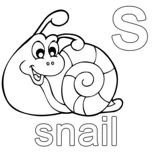 kostenlose malvorlage englisch lernen snail zum ausmalen. Black Bedroom Furniture Sets. Home Design Ideas
